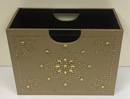Luxury Gold Magazine Rack Storag...