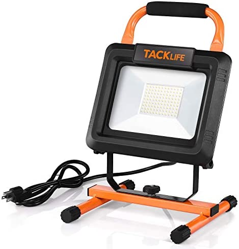 TACKLIFE 70W and 7000LM Portable LED Work Light ON OFF Switch IP65 Waterproof Flood Light with product image