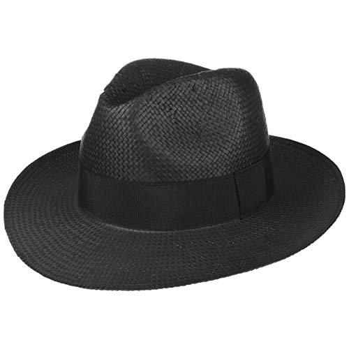 Lipodo Chapeau en Paille Black Mountain d´ete Bogart (S (54-55 cm) - Noir)