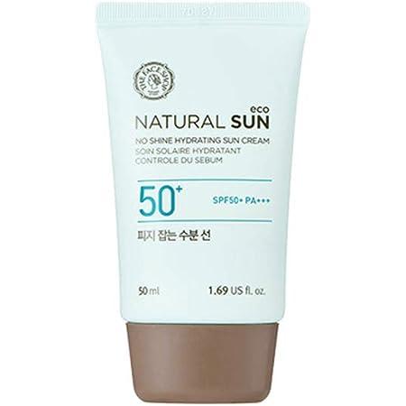 [ザ・フェイスショップ] The Face Shop ナチュラルサン エコ ノーシャイン・ハイドレーティング・サン・クリーム SPF50 PA+++ The Face Shop Natural Sun Eco No Shine Hydrating Sun Cream SPF50PA+++50ml [海外直送品]