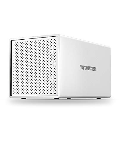 4 Bay FestplattenGehäuse, Yottamaster Aluminium Externe USB3.0 Typ C SATA HDD Gehäuse für 4 X3.5/2.5