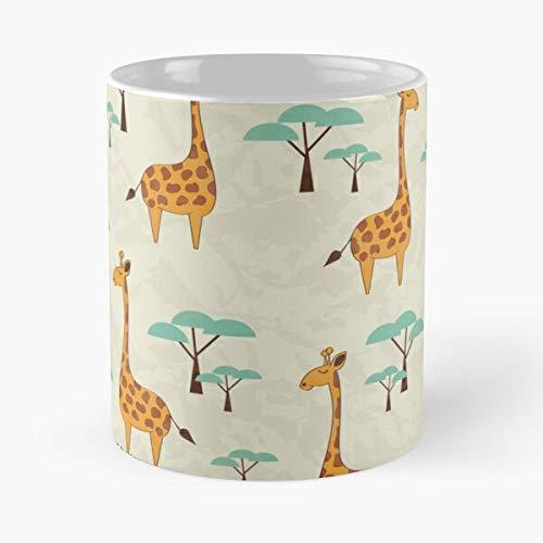Sweet Wrapping Natural Mammal Neck Wallpaper Niños Azulejos Comer Comida Bite John Best Taza de café de cerámica de 11 Oz