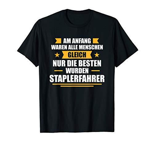 Herren Stapler Gabelstapler Lagerist Geschenk Staplerfahrer T-Shirt