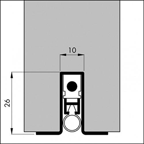 DIWARO® Automatische - Türbodendichtung   aluminium pressblank   Länge 630mm, 730mm, 830mm, 930mm, 1030mm   geeignet als Türdichtung zum Schutz vor Rauch, Kälte und hohen Heizkosten. Die Absenkautomatik senkt und schließt sich mit dem Öffnen und Schließen der Tür. (1030mm)