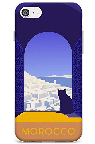 Poster Vintage Travel Marocco Slim Cover per iPhone 6 TPU Protettivo Phone Leggero con Wanderlust Vacanza Vacanza in Viaggio Nazione