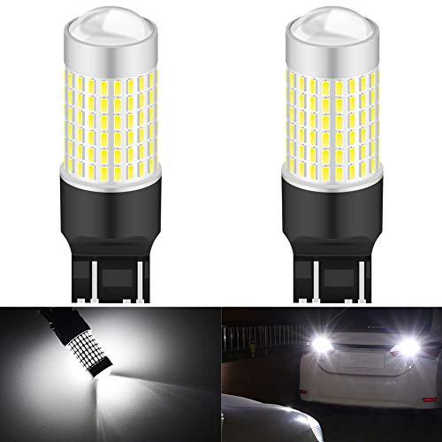 KATUR 7443 T20 W21/5W 7440 992 Bombilla LED Chips de Alta Potencia 3014 3000LM 6500K Xenón Blanco Reemplace para respaldar Luces de señal de Giro de Cola de Freno inversa...