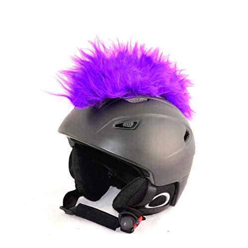 Helm-Irokese für den Skihelm, Snowboardhelm, Kinderskihelm, Kinderhelm, Motorradhelm oder Fahrradhelm - Iro-Helmcover - für Kinder und Erwachsene HELMDEKO (Lila)