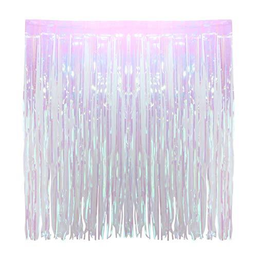 Amosfun partij metalen rand deur gordijn glinsterende folie achtergrond decoratie voor bruiloft verjaardag 1 Meter Picture 1