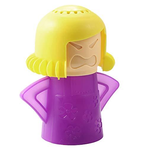 Mikrowelle Reiniger Gesunde Küche, Angry Mama Küche Werkzeug Lanking-Gerade Fügen Sie Essig und Wasser(Gelbes lila)
