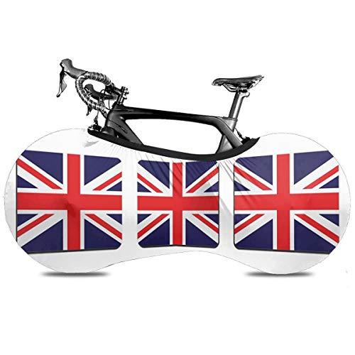 Videojuego portátil de la bicicleta cubierta interior anti polvo de alta elasticidad de la rueda de la cubierta protectora de la bicicleta Rip Stop neumático carretera mtb bolsa de almacenamiento, Union Jack, talla única