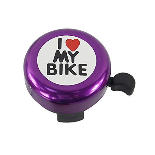 Cloche de Vélo Aluminium Bell Ring Bell Classic Bicycle Bell pour Adultes Hommes Femmes Enfants Filles Garçons Vélos Accessoires de Vélo de Montagne