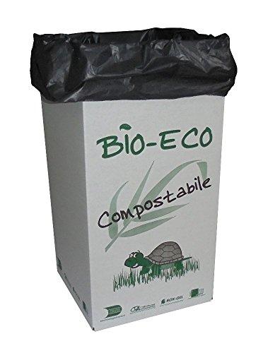 PZ 5 Boîte Porte déchets + PZ 20 sacs poubelles pour poubelles carton cm 35 x 35 haut cm 70 pour tri sélectif et poubelle