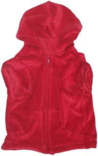 The Dog Squad Velour Zip Front Pet Hoodie, Small, Red