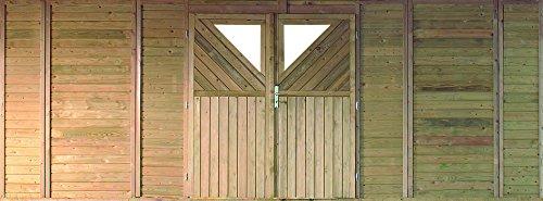 Unbekannt Karibu Frontwand mit Doppeltür für Doppelcarport