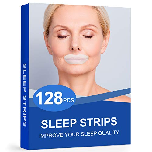 128Packs Sleep Strips for Sleeping,Sleep Mouth Tape for Less Mouth Breathing,Mouth Breathing Tape for Better Nose Breathing,Sleep Strips for for Instant Snoring Relief and Sleeping Quality Improvement