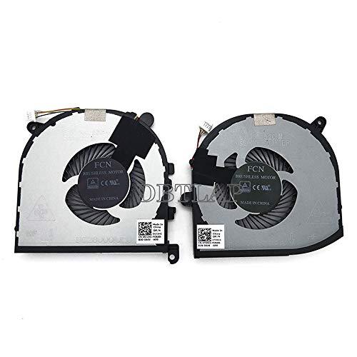DBTLAP Neu Lüfter für Dell XPS 15 9560 Precision 5520 CPU + GPU Kühlung Lüfters DC28000I0F0 0VJ2HC 0TK9J1