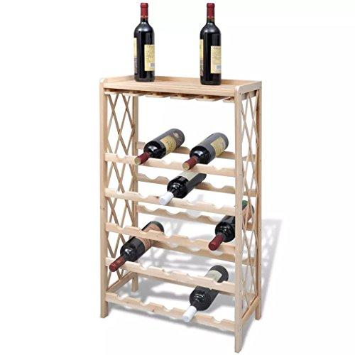 Goliraya Elegante vinoteca Botellero con estantes de Madera para 25 Botellas