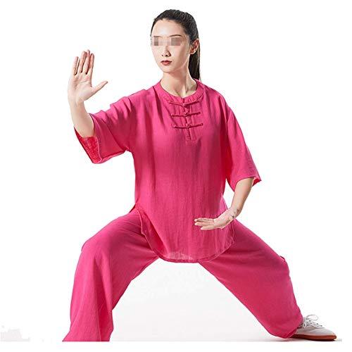 GAO-bo Traje de Tai Chi for Mujer, Ropa de Artes Marciales Traje Yoga Suit Artes Marciales Chinas Tradicionales de Kung Fu Wing Chun Ropa de Entrenamiento (Color : C, Size : Medium)