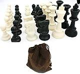 IDOPUZ️® Juego de ajedrez Staunton Profesional , 4-Reina 77mm Rey con Bolsas de ajedrez con cordón Listo para el Torneo