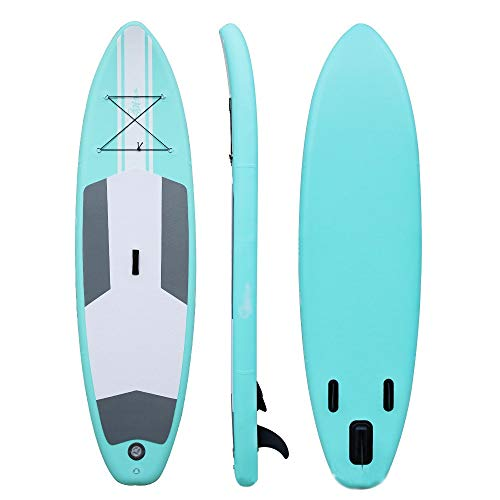 Ryyland-Home Paddel Boot SUP-Brett-Satz for Kinder aufblasbare Unisex Stand Up Paddle Board 305x76x15 cm Up Paddle Board Kit Ständer Aufblasbare Bretter (Color : Green, Size : 305x76x15cm)