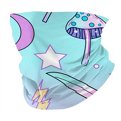 Antokos Girly Pastel Goth Bruja Patrón Unisex Reutilizable Ajustable Cara Cubierta Bufanda Protección UV Cuello Pasamontañas Variedad Impreso Bufanda Cabeza