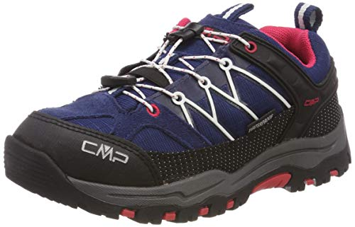 CMP Unisex-Kinder Kids Rigel Low Shoe Wp Trekking- & Wanderhalbschuhe, Blau (Marine-Corallo 36mc), 36 EU
