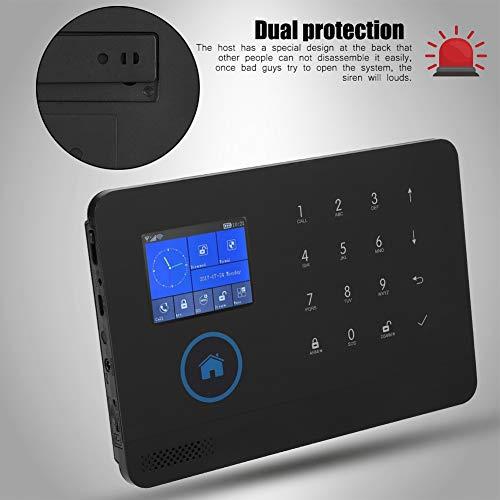 ASHATA Kit Alarma de Inteligente Inalámbrica(WiFi + 3G + gsm + GPRS).Alarma PIR Detector con Sensor de Movimiento Control Remoto y 2 Llave RFID para Sistema Antirrobo Seguridad de Hogar(EU.)