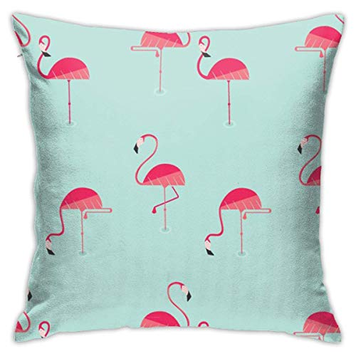 Moily Fayshow Throw Pillow Cushion Cover,Flamingo Decorative Square Accent Pillow Case 55X55 Cm