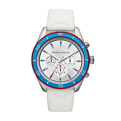 Armani Exchange heren chronograaf kwarts horloge met siliconen armband AX1832