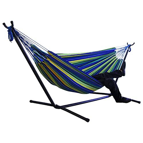 Portátil al aire libre hamaca soporte multifuncional práctico patio conveniente jardín camping dormir columpio colgante cama