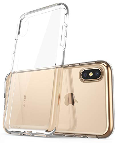 SUPCASE Custodia iPhone XS Max, Cover Ibrida Protettiva [Unicorn Beetle Style Series] TPU Antiurto Bumper Clear Case per Apple iPhone XS Max 6,5' 2018 Release (100% Trasparente)
