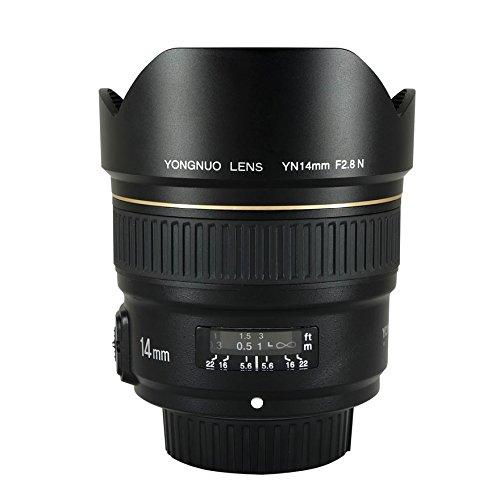 YONGNUO YN14 mm F2.8N Lente de Gran Angular para cámaras Nikon DSLR