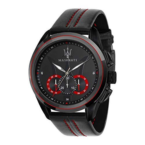 Reloj para Hombre, Colección Traguardo, Movimiento de Cuarzo, cronógrafo, en Acero y Cuero - R8871612023