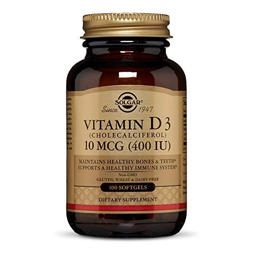 Solgar Vitamina D3 400 UI (10 μg) Cápsulas blandas - Envase de 100