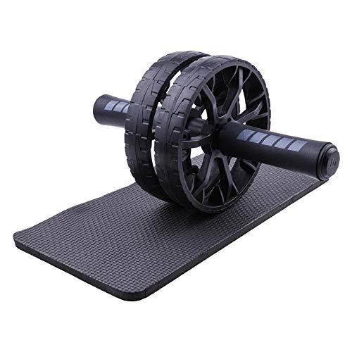 Steadyuf Bauchtrainer AB Wheel, Bauchmuskeltrainer für Zuhause, zum Trainieren von Bauchmuskeln, Rücken & Schultern, Oberkörper-Roller inkl. Kniematte, platzsparendes Sportgerät