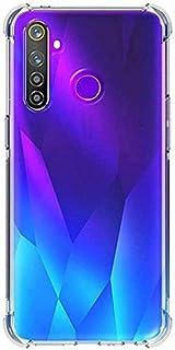 Amagav Transparent Silicone Soft Mobile Back Case Cover Compatible for Realme 5 Pro