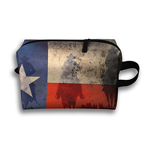 Texas Vlag Reistas Toiletten Tas Telefoon Muntportemonnee Cosmetische Pouch Potlood Case Tote Multifunctionele Organizer Opbergtas