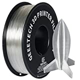 GEEETECH Filament PLA 1.75mm for 3D Drucker 1kg Spool, Transparent