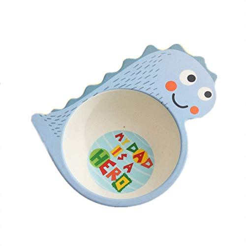Childrens Food Tray, Portable Baby Food Supplement Bamboo Fiber Tableware, Cartoon Printing Cute Childrens Bowl