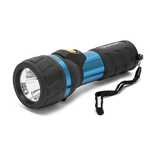 Velamp IP06 IMPULSE 2D Hochresistente LED-Taschenlampe aus Aluminium. Funktioniert mit 2 D-Batterien (nicht im Lieferumfang enthalten). Superheller 110lm (3W), wasser- und stoßfest, Blau