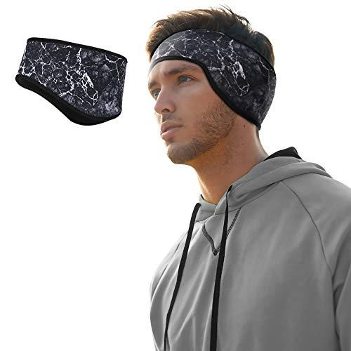 RELASANT Winter Ear Warmer Headband, Elastic Fleece Ear Muffs for Men & Women, Cold Weather Ear Covers - Soft Ear Band for Running, Cycling, Skiing, Sports & Daily Wear (Black)