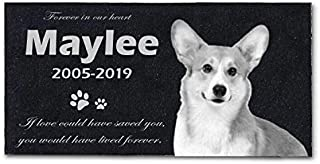 Pet Dog Memorial Tombstone Marble Gravestone Memorial Animal Headstone Sympathy Remembrance Gifts for Loved Ones (12
