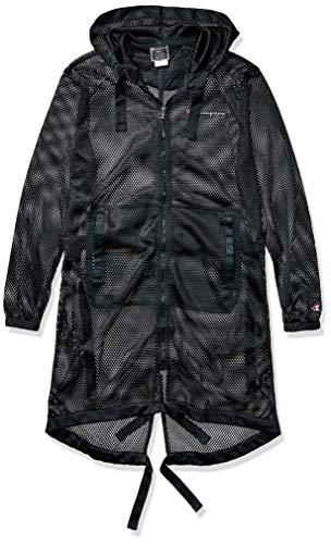 Champion Life Herren Mesh Hooded Trench Trenchcoat, schwarz, X-Groß