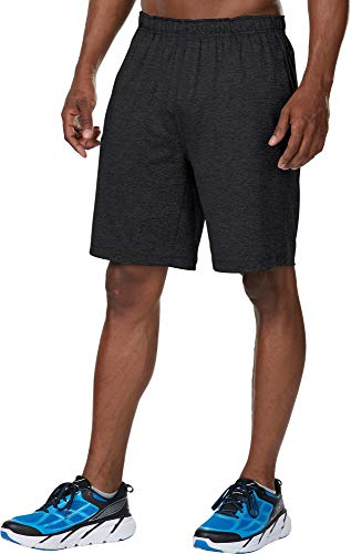 R-Gear Men's 2-in-1 Running Workout Shorts, 9-Inch Length with Inner Compression Shorts and Pockets | Power Boost, Black, XXL