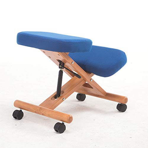 Rodillas silla de madera sólida postura silla para adultos Estudio Silla Silla de ordenador Roble Estudiante Ascensor función positiva Postura Silla Silla Silla de montar a caballo anti-joroba