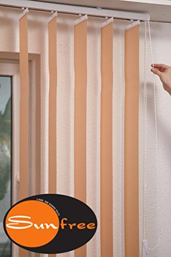 sunfree Vertikal Lamellen Vorhang Farbe beige Breite 100 cm Höhe 150 cm