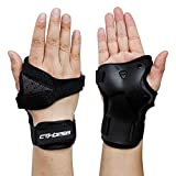 CTHOPE Impact Wrist Guard Protective Gear Wrist Brace Wrist Support for Skating Skateboard Skiing Snowboard Motocross Multi Sport Protection (M)