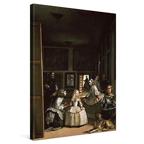 PICANOVA – Diego Velázquez – Las Meninas 60x80cm – Cuadro sobre Lienzo – Impresión En Lienzo Montado sobre Marco De Madera (2cm) – Disponible En Varios Tamaños – Colección Arte Clásico