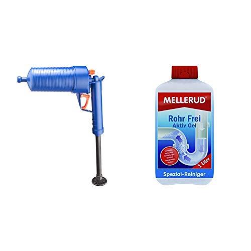 CON:P SA220 Pressluft-Rohrreinigungspistole für Bad und Küche & MELLERUD Rohr Frei Aktiv Gel 1,0 Liter 2003109151