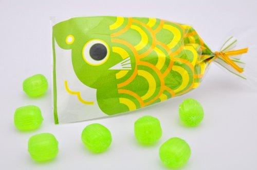 プチ京鯉のぼり 2ケース 100袋入り 緑(メロン)